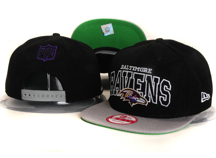 Baltimore Ravens Black Snapback Hat YS 2